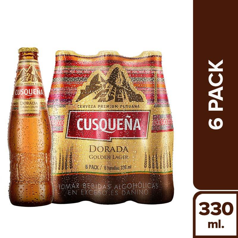 CUSQUEÑA DORADA BOT 330ML - 6PACK