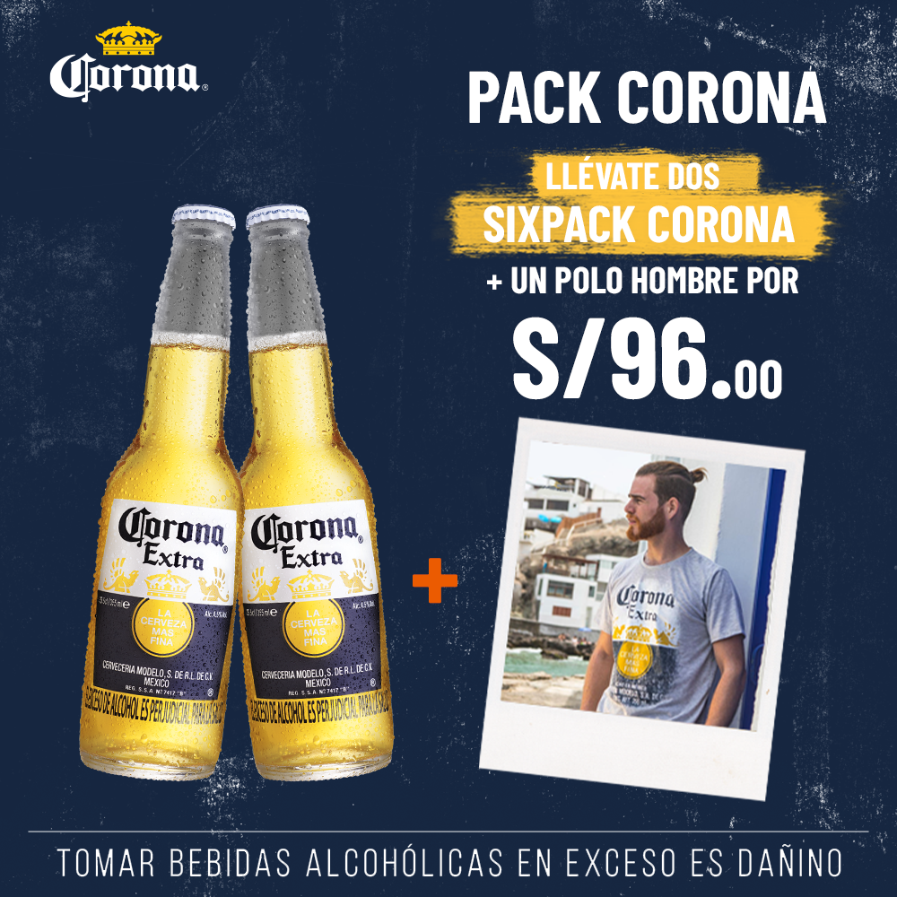 2 SIX PACK CORONA + POLO DE HOMBRE
