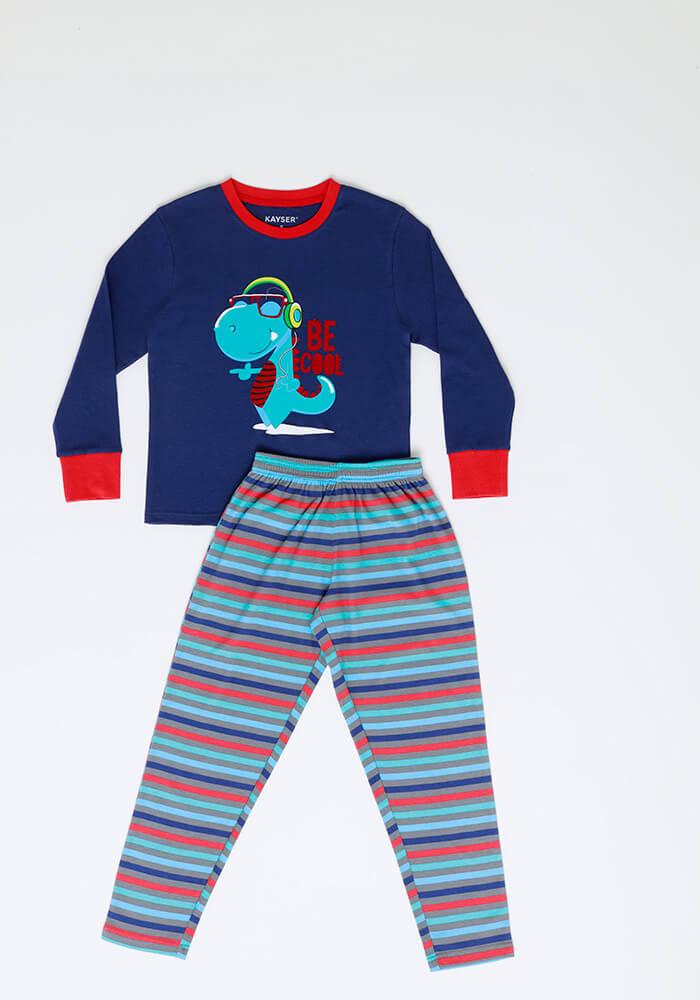 Pijama Niño 64.1160 Algodón Azul