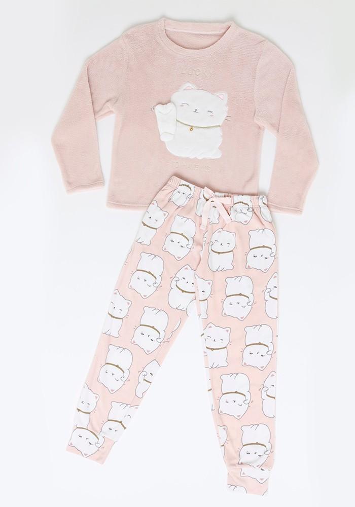 Pijama Juvenil Mujer 65.1324 Coral Fleece