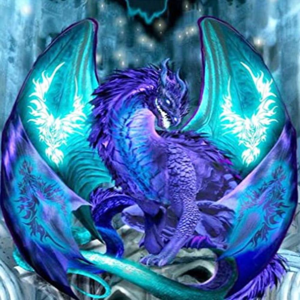 Dragon Azul - Diamond Painting